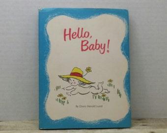 Hello Baby, 1968, Doris Herold Lund, vintage book, baby shower