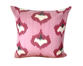 Pink Ikat Cushion Pillow Cover, 45 x 45 cm