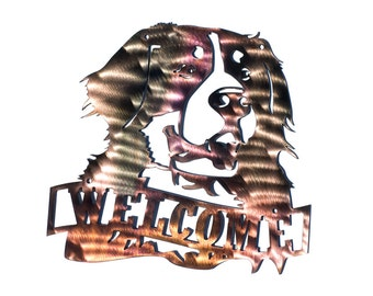 Bernese Mountain Dog Welcome Sign - CAN BE CUSTOMIZED!