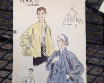 Vogue 7613 Women's Coat Pattern 1952