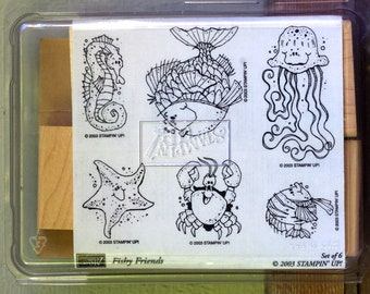 Stampin' Up Rubber Stamp Set Fishy Friends