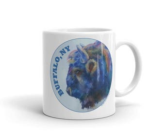 Buffalo NY Round Design Mug made in the USA