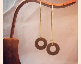 Copper circle with brass kidney wire