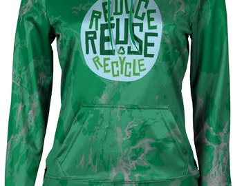 ProSphere Women's Recycle Reduce and Reuse Causes Marble Pullover Hoodie