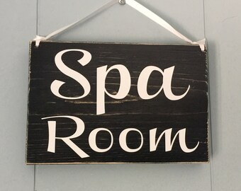 Spa Room 8x6 (Choose Color) Custom Rustic Shabby Chic Wood Spa Sign
