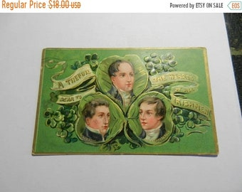 Spring Sale Vintage A Trefoil Dear to The Hearts of All Irishmen Postcard Tucks 1909