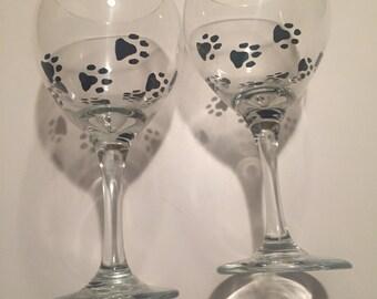 Paw Print Glasses