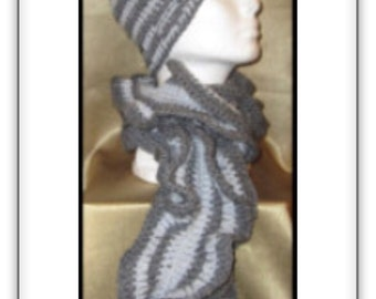 Beannie Hat and Ruffled Scarf
