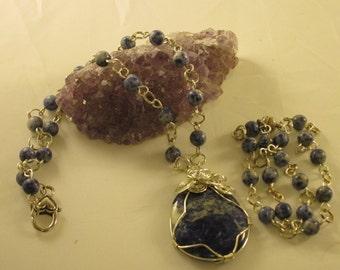 Sodalite Pendant with matching bracelet
