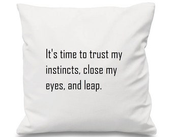 Defying Gravity Cushion, Wicked Cushion, Musical Cushion, Song Cushion, Idina Menzel Cushion, Song Cushion, Lyric Cushion, Witch Cushion