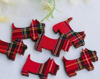 Mini Scottie Dog Embellishments
