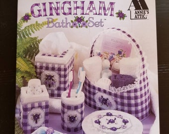 Plastic Canvas Gingham Bath Set