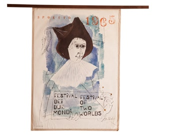 Mid Century Spoleto Art Poster