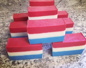 Red White and Blue Soap ~ Glycerin Soap