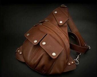 Leather Backpack, Shoulder Bag, K05D40