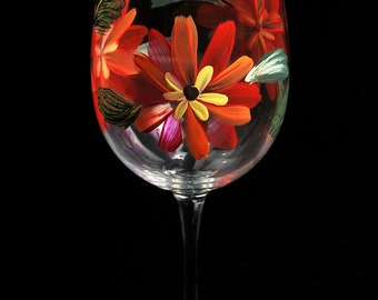 Hand Painted Wine Glasses II