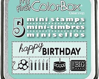 ColorBox® Mini Rubber Stamp Set, Birthday Stamps