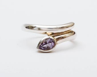 Use Code NEXT0RDER to get 10% off+ Free Shipping - Amethyst,  Amethyst Silver Ring, Unique Silver Rings,Gemstone Ring,Birthstone Jewelry