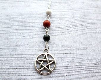 Triple Goddess necklace, pagan necklace, pagan jewelry, Maiden Mother Crone necklace, Wiccan necklace, witch necklace, wiccan jewelry, Gaia