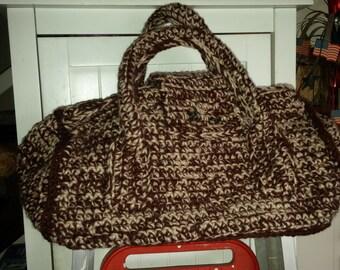 Crochet handbag - purse - bag - overnight bag - luggage
