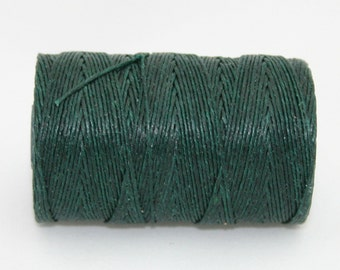 Waxed Irish Linen Thread Forest Green 4 Ply
