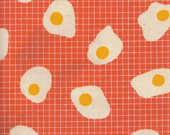 Fried eggs in sweet orange from the Welsummer fabric collection by Kim Kight for Cotton + Steel 3062-02
