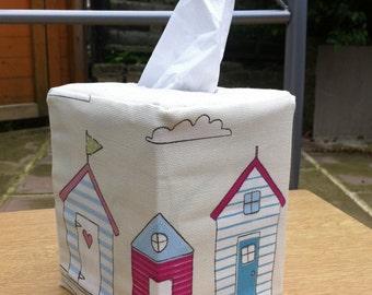 Tissue Box Cover Fryettes Beach Huts Fabric