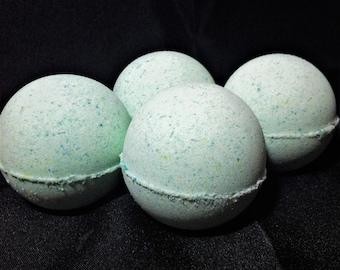 Heart Chakra Balancing Bath Bomb / Anahata Balancing Bath Bomb / Rosemary and Ylang Ylang Bath Bomb