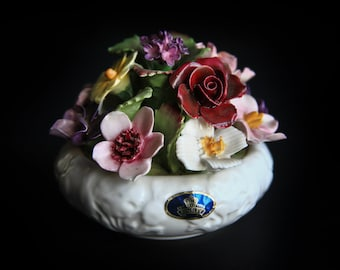 Aynsley Porcelain Floral Bouquet ~ Bi-Centenary Family of Flowers 1776 - 1976 ~ Artist Signed ~ Fine English Bone China