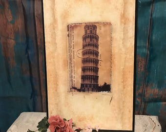 Leaning Tower Of Pisa European Hanging Picture Home Wall Decor