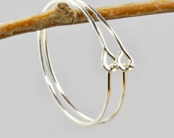 Sterling Silver Hoops, Handmade, Silver Hoop Earrings