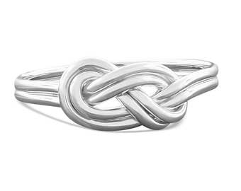 Sterling Silver Celtic Knot Ring - Climbing Knot Ring - Celtic Ring - Infinity Ring - Eternity Ring - Promise Ring for Her