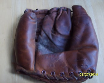 Vintage Baseball Glove, Kid's Baseball Glove, Leather Glove, Baseball, Collectible Glove, Nokoma Glove