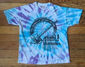 1988 Neil Young & The Bluenotes Concert Tour T Shirt 80's