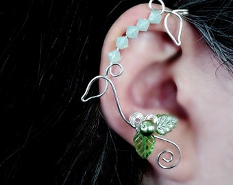 Ear Cuff Wrap Vine Spring Green Ear Dreams
