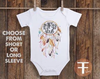 Gypsy Soul ONESIE®, Boho Baby Clothes, Take Home Outfit For Girl, Baby Girl Coming Home Outfit, Baby Girl Take Home Outfit, Boho Onesie