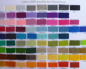 pure wool felt choose any 10 colours