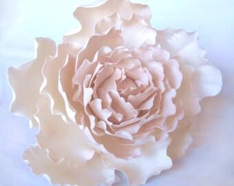 Extra-Large Peony - Blush. Gumpaste flowers for cake decoration, sugar paste, gum paste