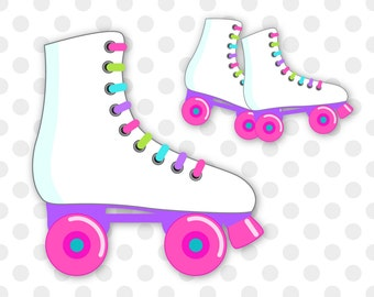 Roller skates clipart, Roller Skating clip art, Skating clipart, Skates clipart, Roller skating birthday, Commercial Use, INSTANT DOWNLOAD