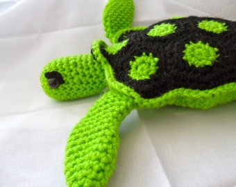 Green Sea Turtle Plush - Green Sea Turtle Plushie - Green Sea Turtle Stuffed Animal - Green Sea Turtle Amigurumi - Green Sea Turtle Doll