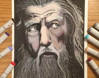 Gandalf Marker Art Print