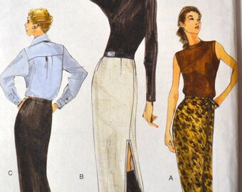 Skirt Sewing Pattern  Vogue 9959 Misses' Skirts Size 6-8-10 Uncut Complete