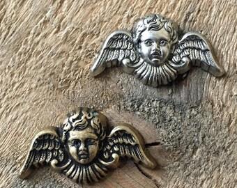 Angel Cherub Stamping Finding. USA Made.