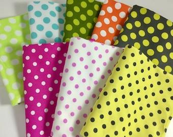 Fat Quarter Bundle of Polka Dots in Assorted Colors - Michael Miller