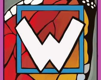 Alphabet letter W