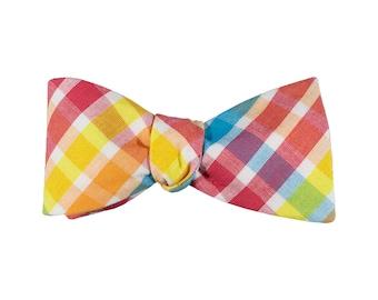 Carnival Plaid Bow Tie