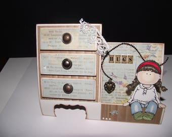 A drawer card in vintage style
