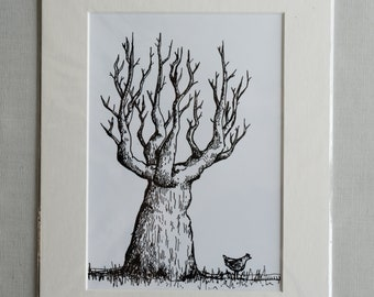"""A5 Mounted Print - """"Chalice"""""""