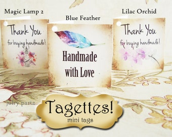 45-TAGETTES•Magic Mix•Mini Tags•Hang tags•Gift Tags•Favor Tags•Paper Tags•Price Tags•Clothing Tags