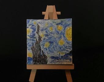 Mini Starry Night Painting
